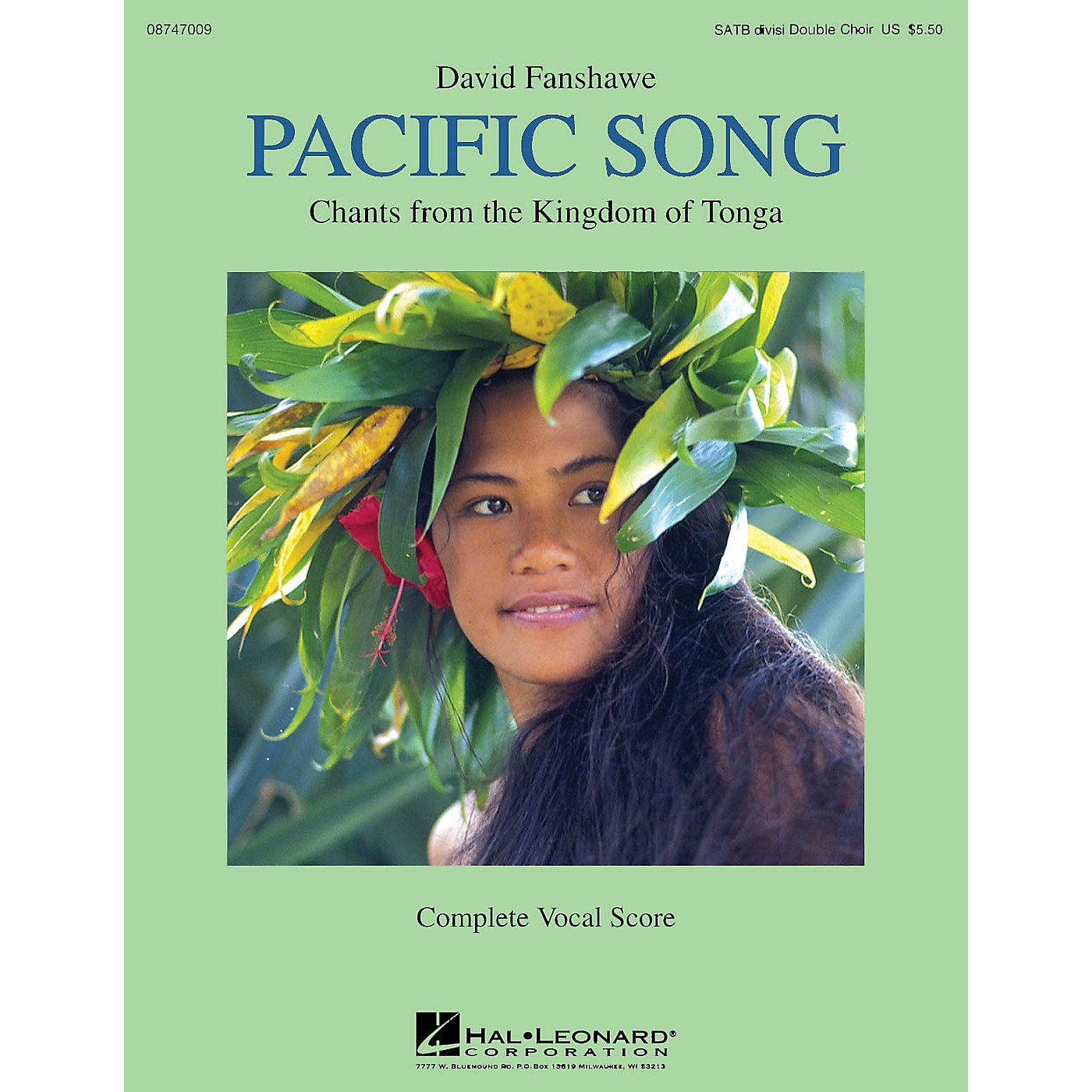 Hal Leonard Pacific Song (Chants from the Kingdom of Tonga) Double Choir SATB divisi composed by David Fanshawe thumbnail