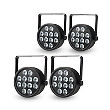 Proline Package of 4 ThinTri64 RGB LED PAR Stage Wash Lights