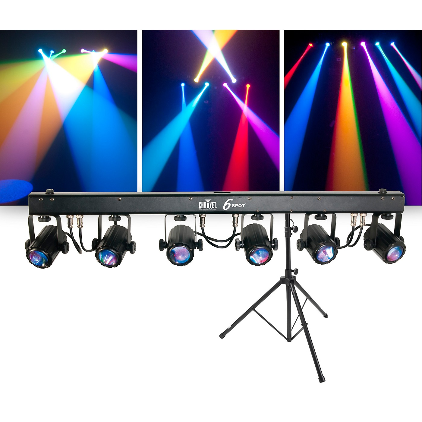 CHAUVET DJ Package with 6SPOT RGB LED Beam Lighting System and Stand thumbnail