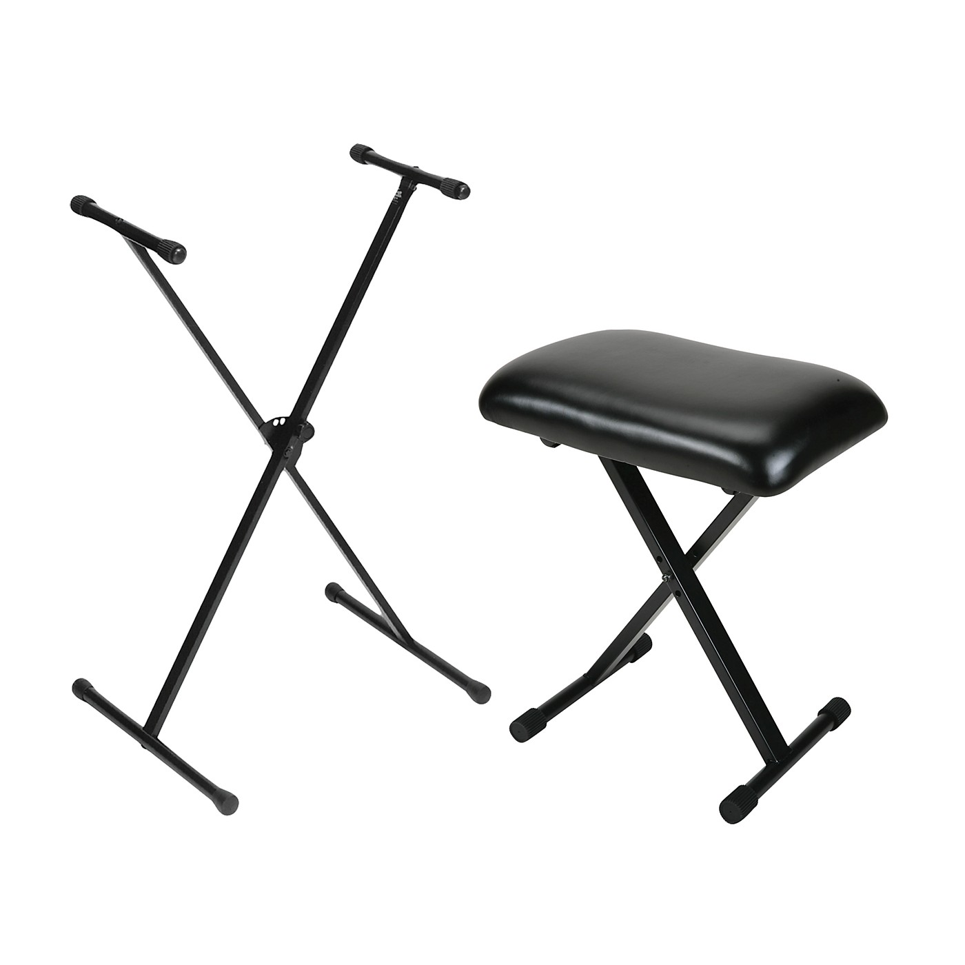On-Stage Padded Keyboard Bench With Single-Braced Stand Combo thumbnail