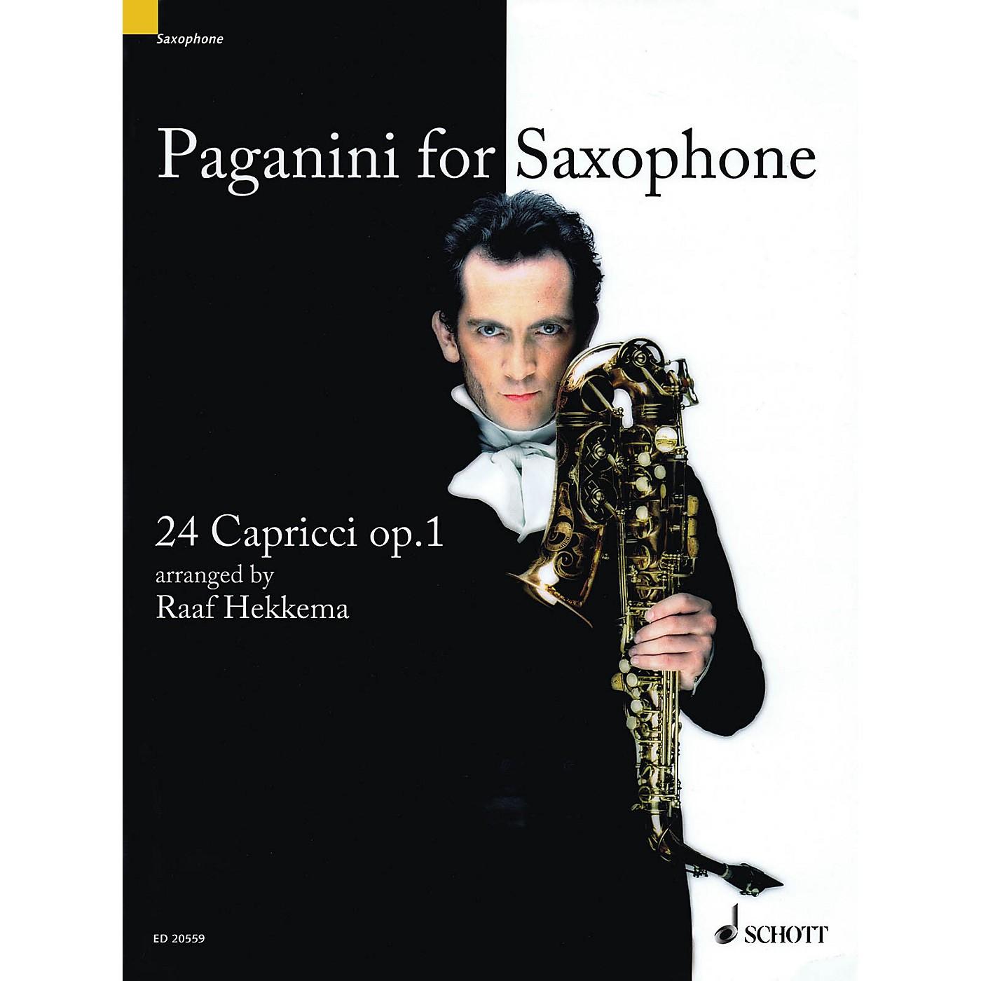 Schott Paganini for Saxophone (24 Capricci, Op. 1 Soprano or Alto Saxophone) Woodwind Series thumbnail