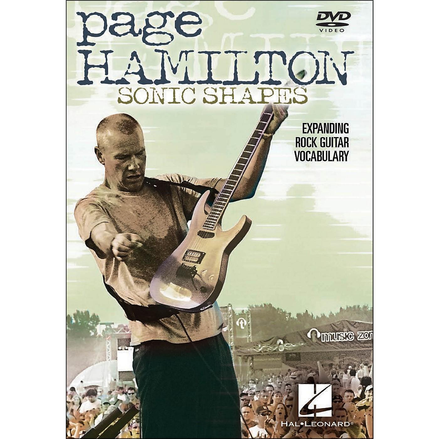 Hal Leonard Page Hamilton - Sonic Shapes: Expanding Rock Guitar Vocabulary (DVD) thumbnail