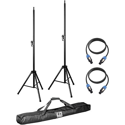 LD Systems Pair of Speaker Stands with Carry Bag and 2 Speakon Cables for Dave 8 System thumbnail