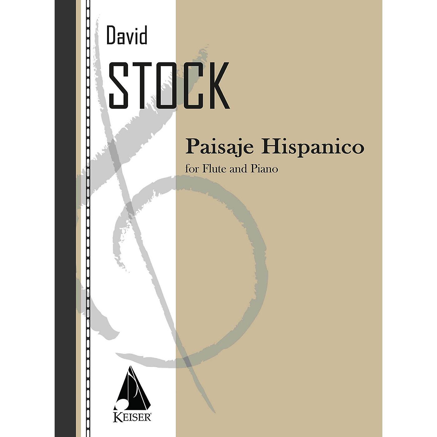 Lauren Keiser Music Publishing Paisaje Hispanico (Flute with Piano Accompaniment) LKM Music Series Composed by David Stock thumbnail
