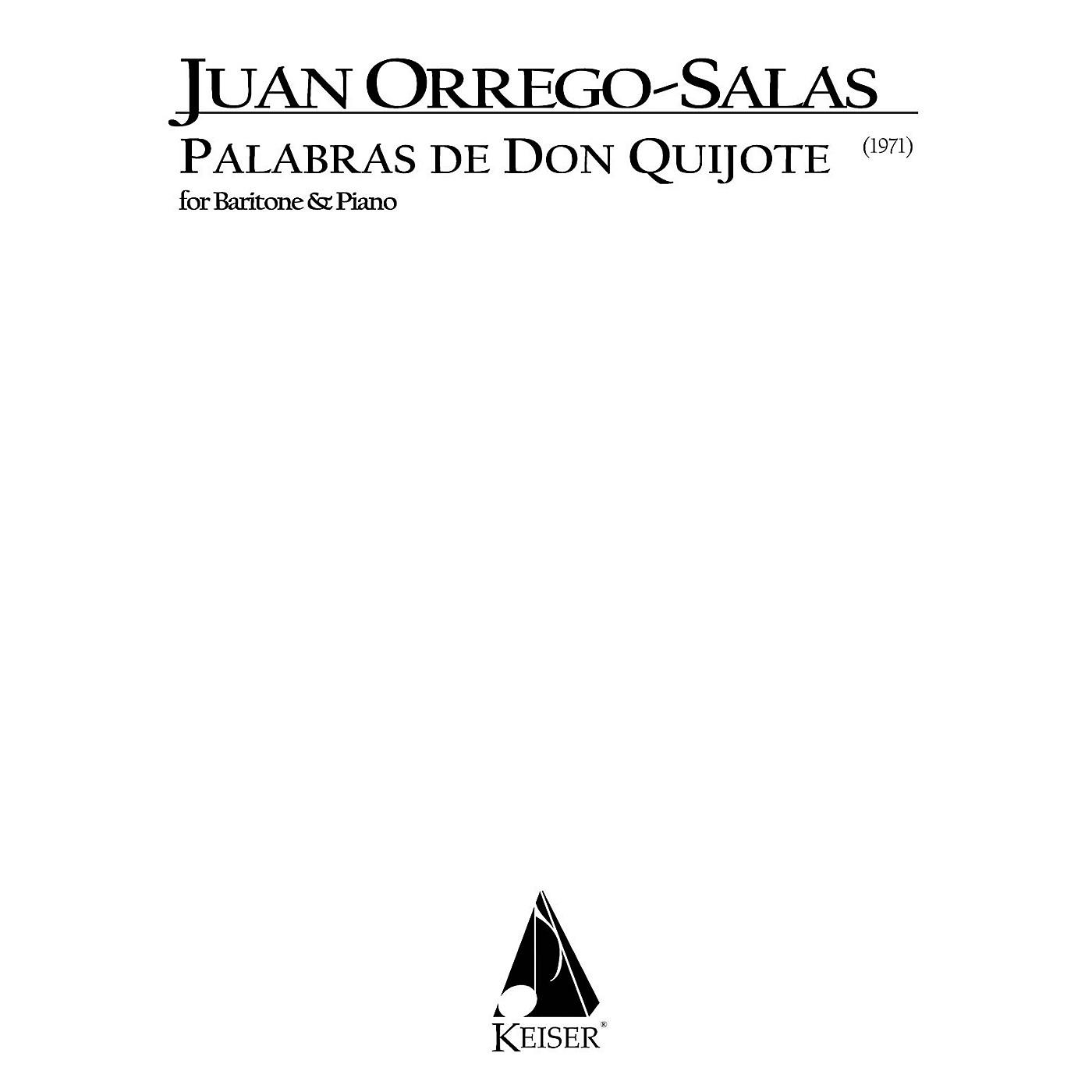 Lauren Keiser Music Publishing Palabras de Don Quijote, Op. 66 (Baritone) LKM Music Series Composed by Juan Orrego-Salas thumbnail