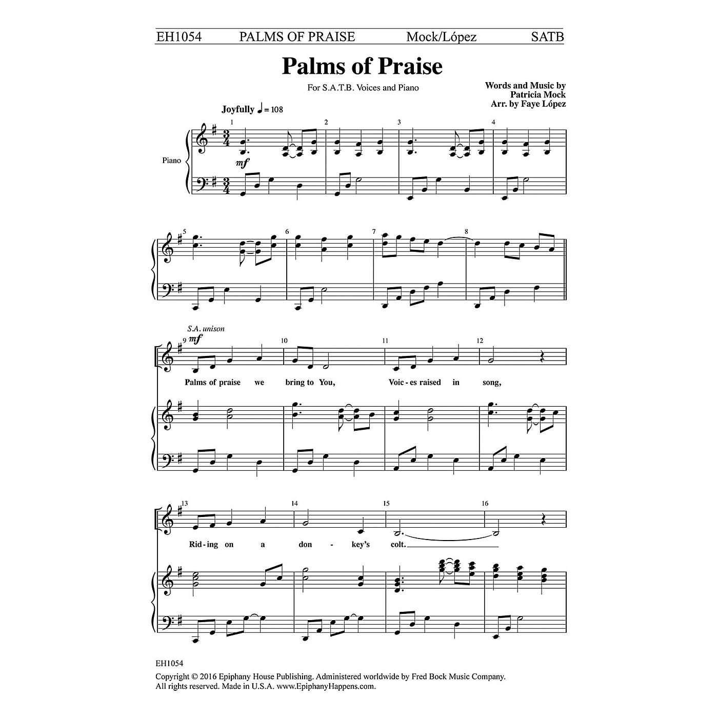 Epiphany House Publishing Palms of Praise SATB arranged by Faye López thumbnail