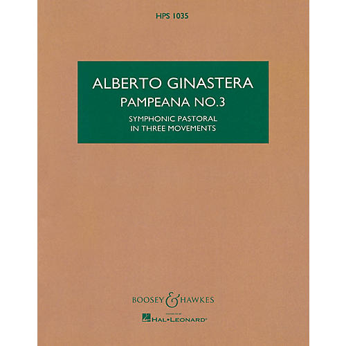 Boosey and Hawkes Pampeana No. 3, Op. 24 Boosey & Hawkes Scores/Books Series Composed by Alberto E. Ginastera thumbnail