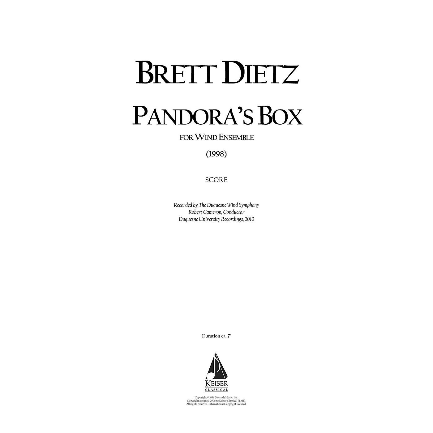 Lauren Keiser Music Publishing Pandora's Box (for Wind Ensemble) LKM Music Series by Brett William Dietz thumbnail