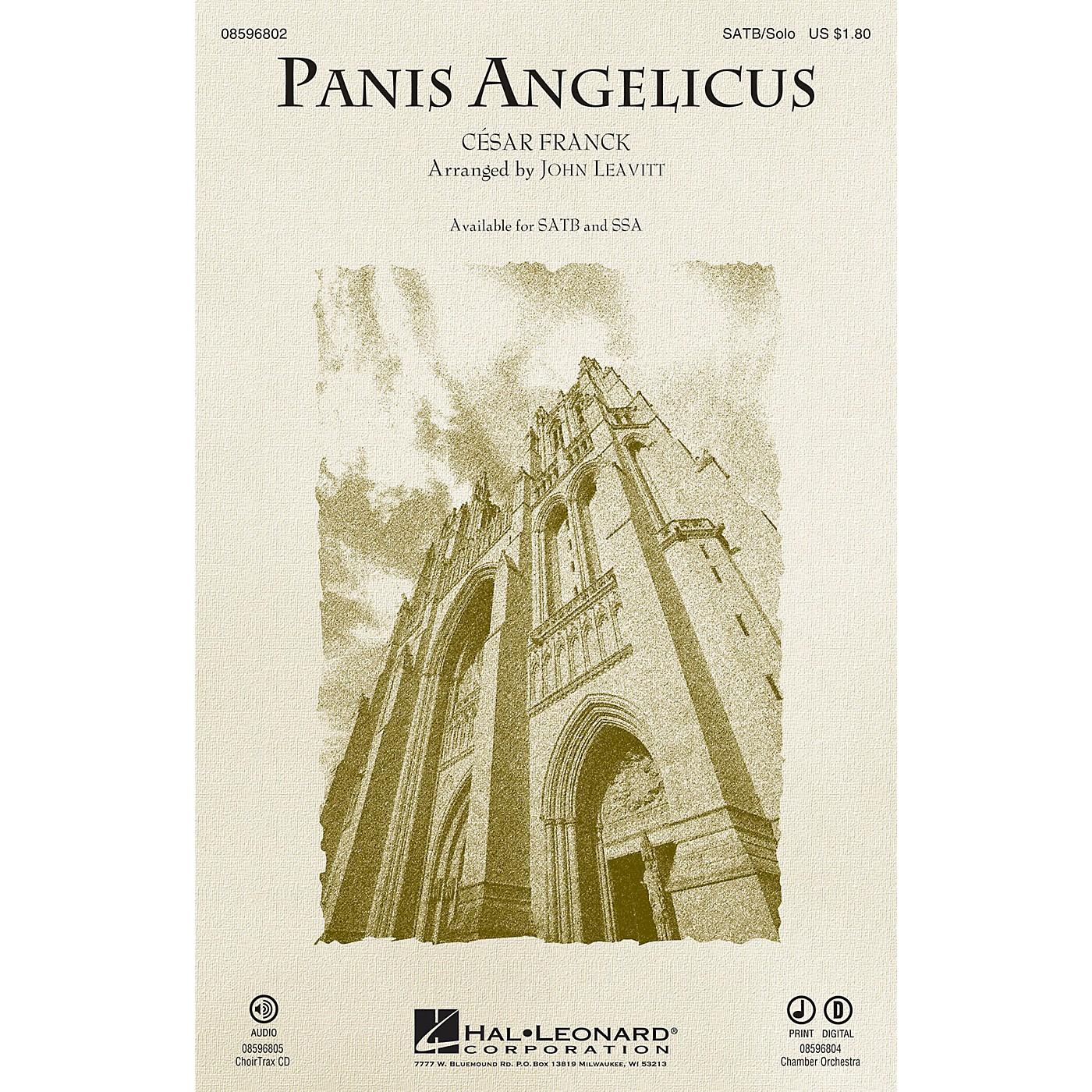 Hal Leonard Panis Angelicus SATB Chorus and Solo arranged by John Leavitt thumbnail