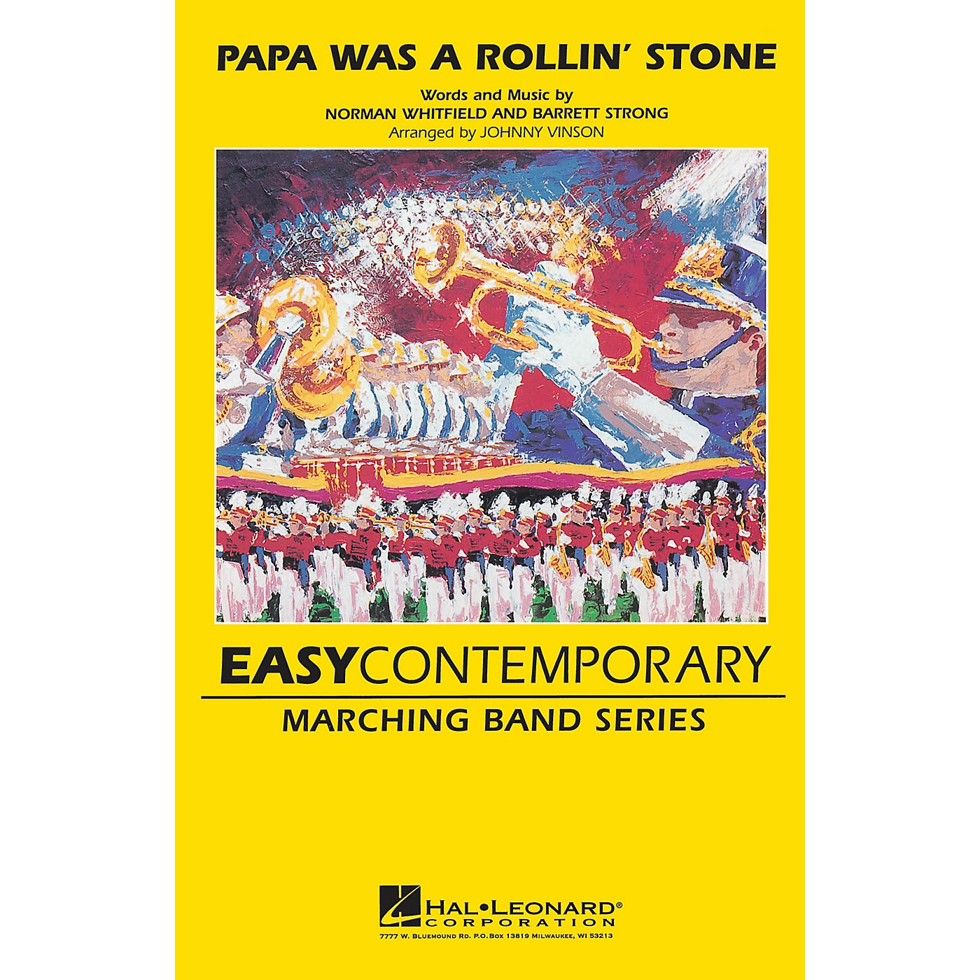 Hal Leonard Papa Was a Rolling Stone Marching Band Level 2-3 Arranged by Johnnie Vinson thumbnail