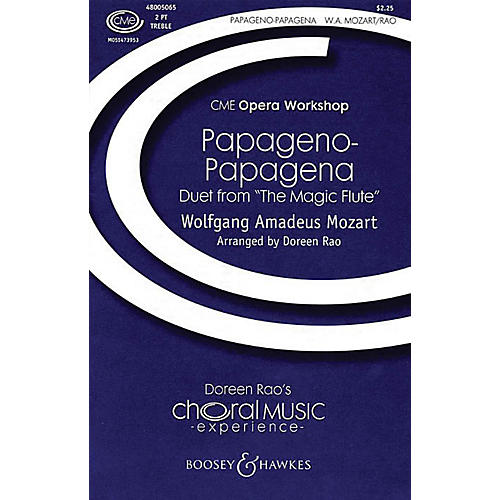 Boosey and Hawkes Papageno-Papagena 2-Part composed by Wolfgang Amadeus Mozart arranged by Doreen Rao thumbnail