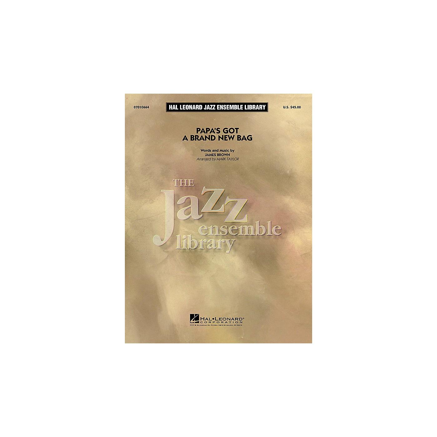 Hal Leonard Papa's Got a Brand New Bag Jazz Band Level 4 Arranged by Mark Taylor thumbnail