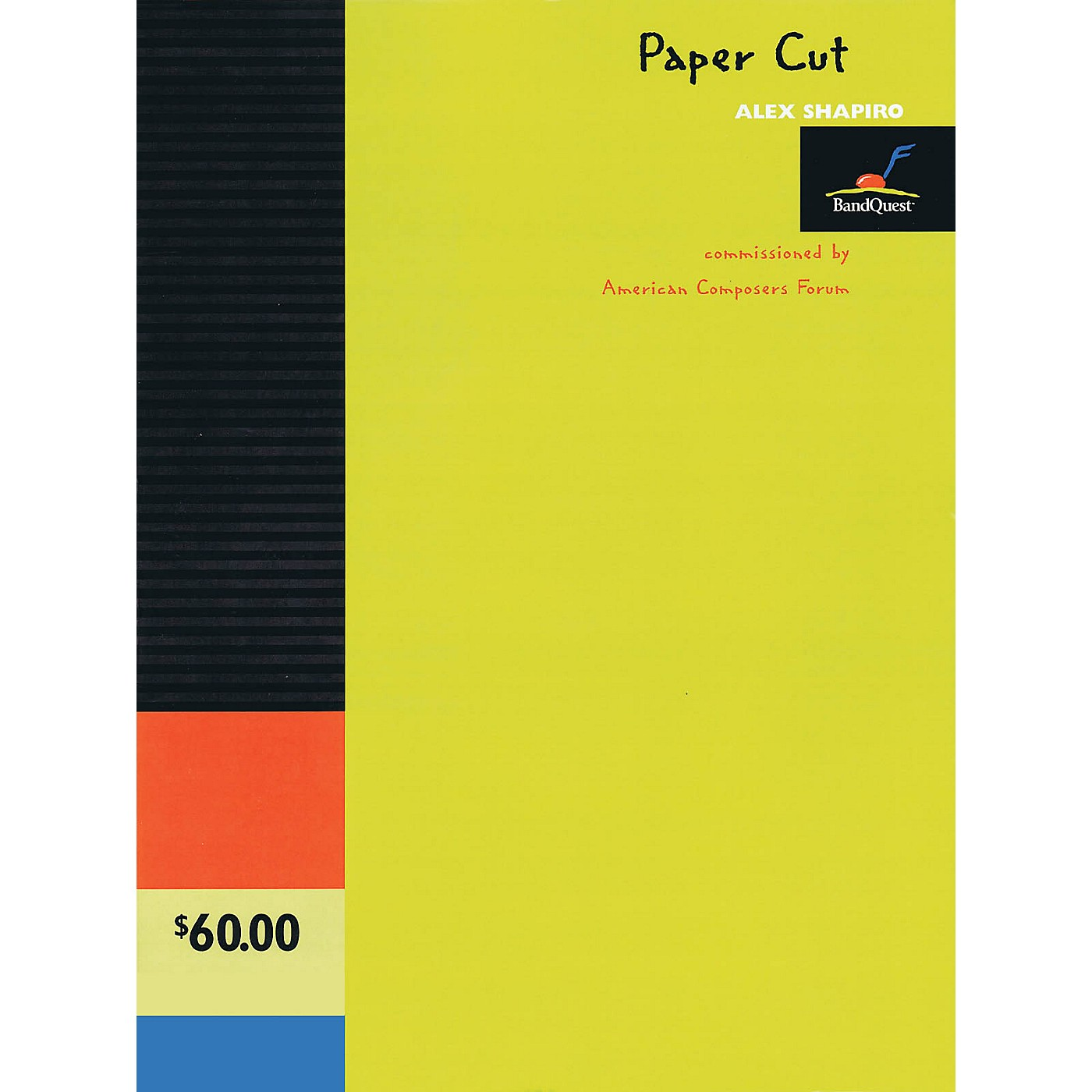 American Composers Forum Paper Cut (BandQuest Series Grade 3) Concert Band Level 3 Composed by Alex Shapiro thumbnail