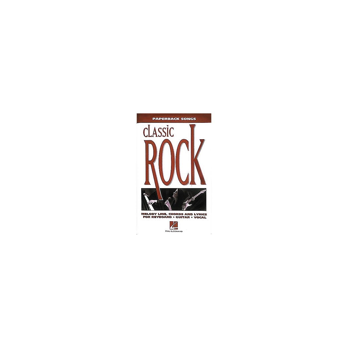 Hal Leonard Paperback Songs - Classic Rock Book thumbnail