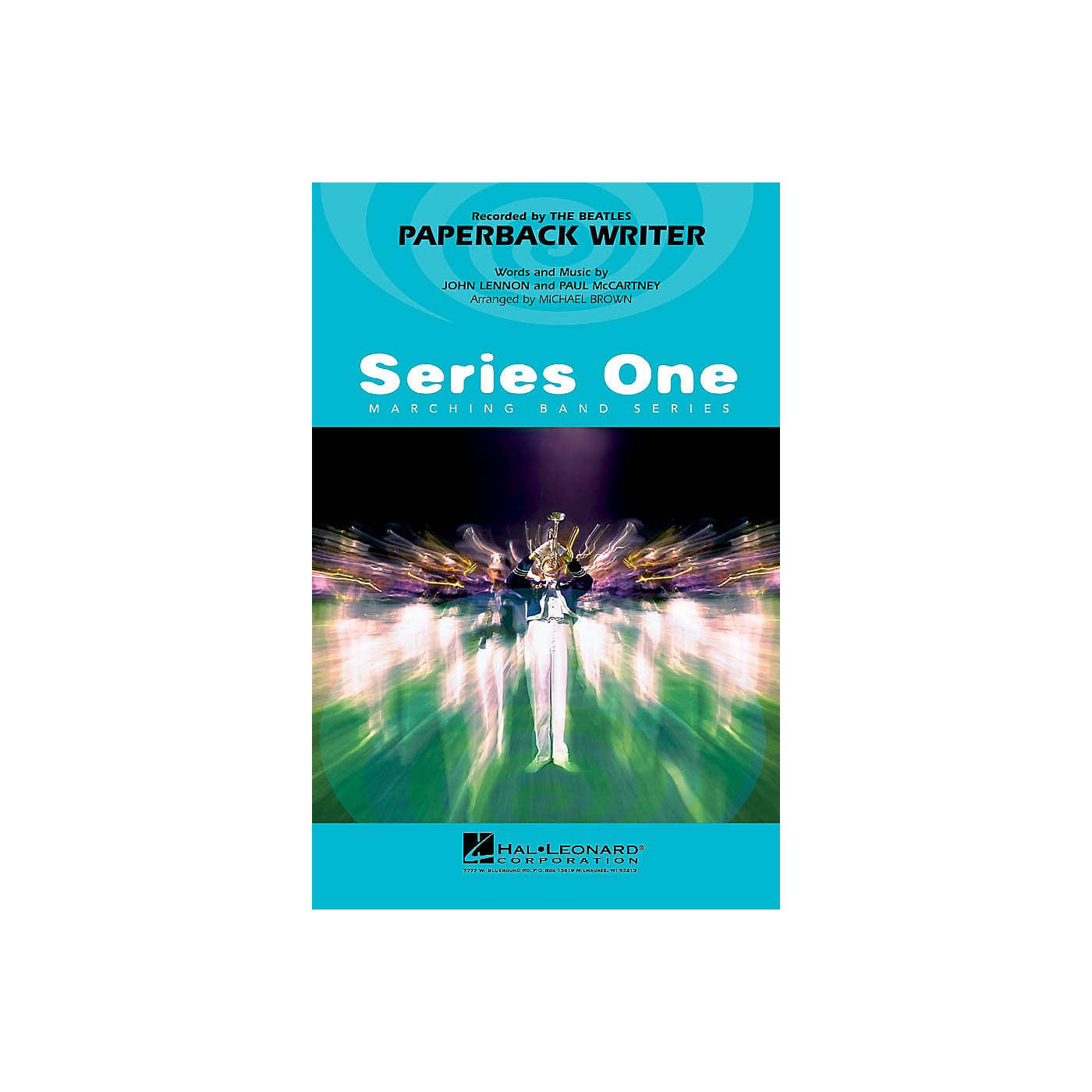 Hal Leonard Paperback Writer Marching Band Level 2 by The Beatles Arranged by Michael Brown thumbnail