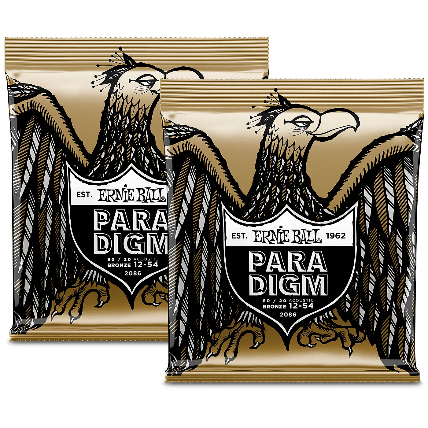 Ernie Ball Paradigm 80/20 Acoustic Guitar Strings Medium Light (2-Pack) thumbnail