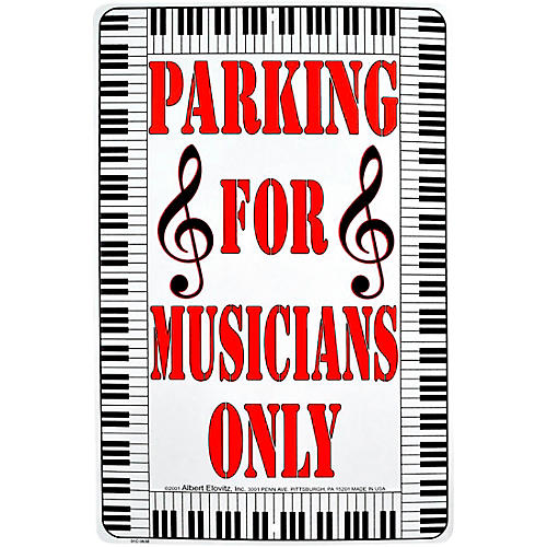 AIM Parking For Musicians Only Metal Sign thumbnail