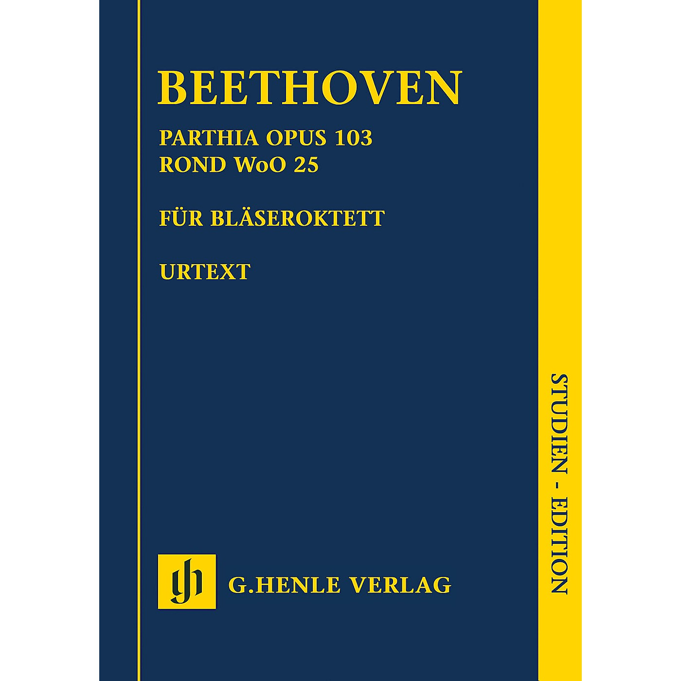 G. Henle Verlag Parthia Op. 103 - Rondo WoO 25 Henle Study Scores Series Softcover Composed by Ludwig van Beethoven thumbnail