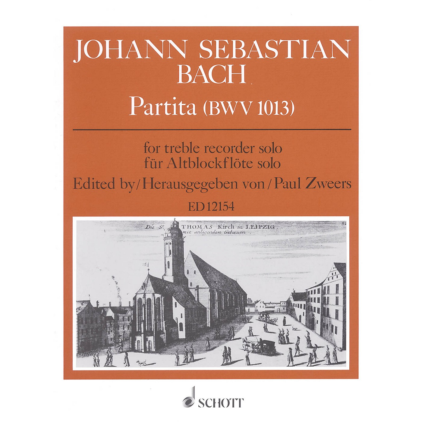 Schott Partita, BWV 1013 Schott Series by Johann Sebastian Bach Arranged by Paul Zweers thumbnail