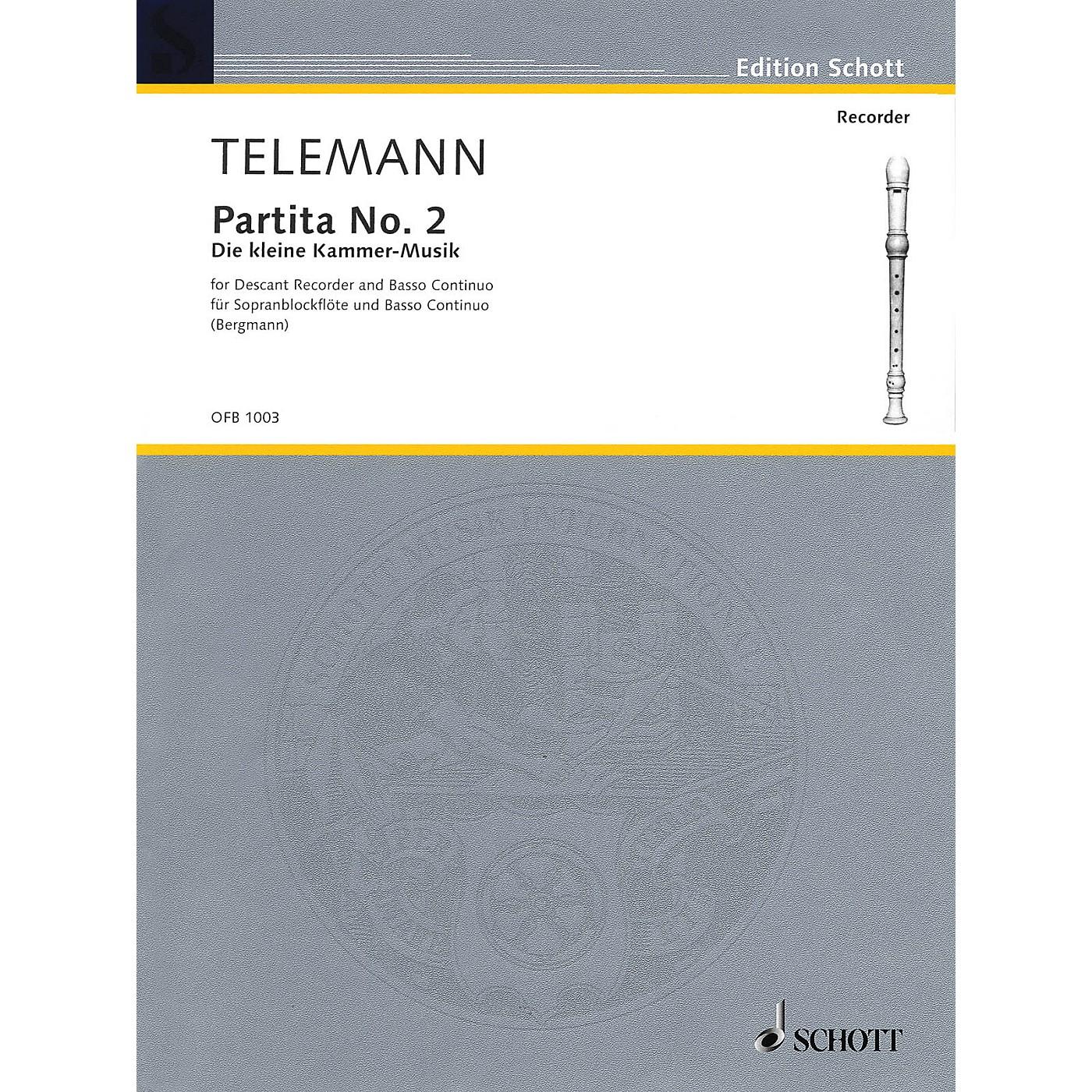 Schott Partita No. 2 in G Major (Der Kleine Cammer-Musik) Schott Series thumbnail