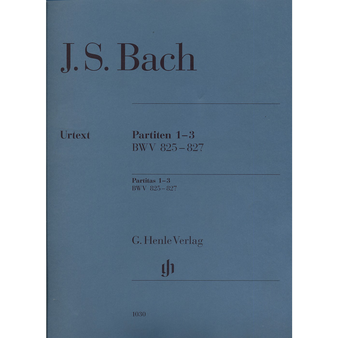 G. Henle Verlag Partitas 1-3 BWV 825-827 By Bach thumbnail