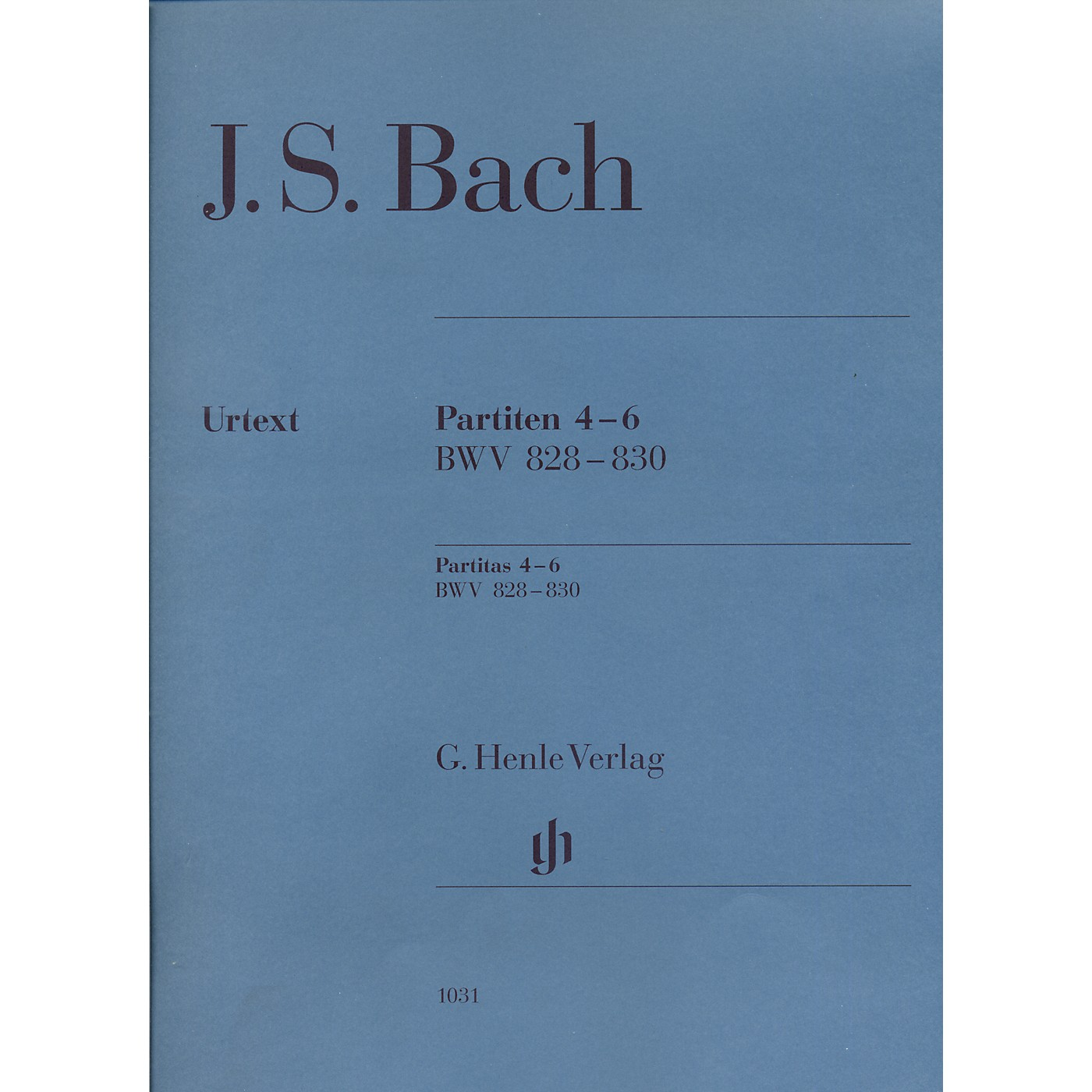 G. Henle Verlag Partitas 4-6 BWV 828-830 By Bach thumbnail
