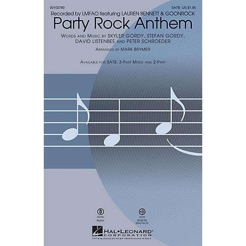 Hal Leonard Party Rock Anthem (SATB) SATB by LMFAO arranged by Mark Brymer thumbnail