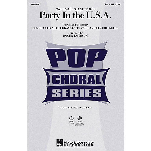 Hal Leonard Party in the U.S.A. SATB by Miley Cyrus arranged by Roger Emerson thumbnail