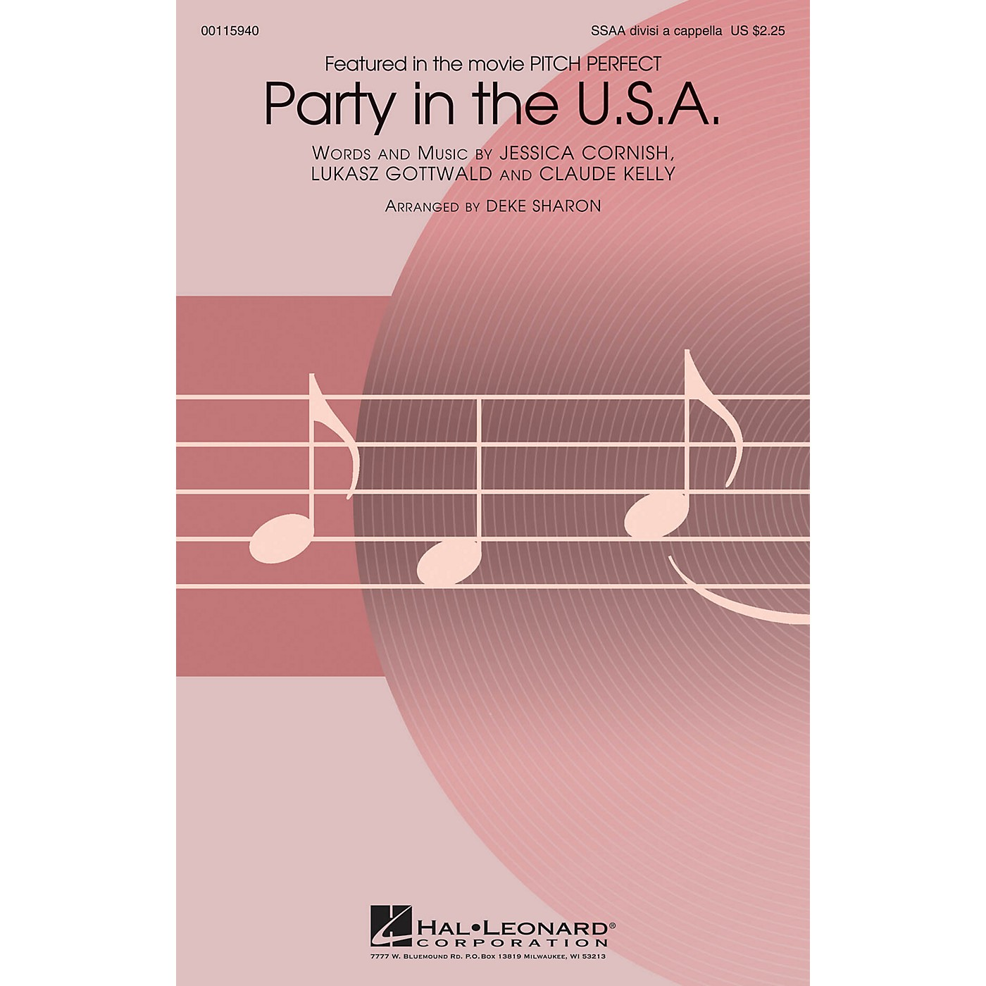 Hal Leonard Party in the U.S.A. (from Pitch Perfect) SSAA Div A Cappella by Miley Cyrus arranged by Deke Sharon thumbnail