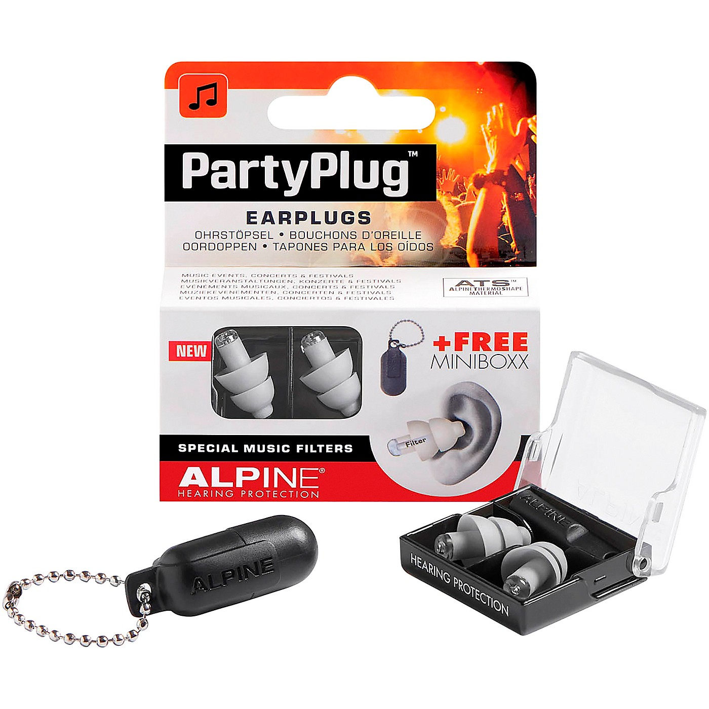 Alpine Hearing Protection PartyPlug Earplugs Silver thumbnail