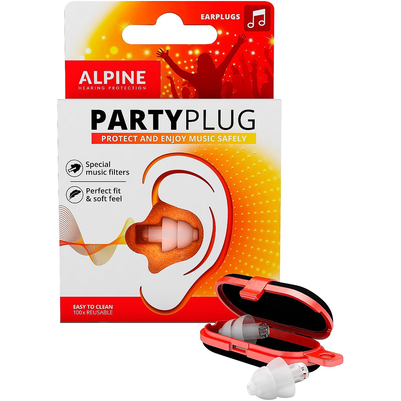 Alpine Hearing Protection PartyPlug Earplugs Transparent thumbnail
