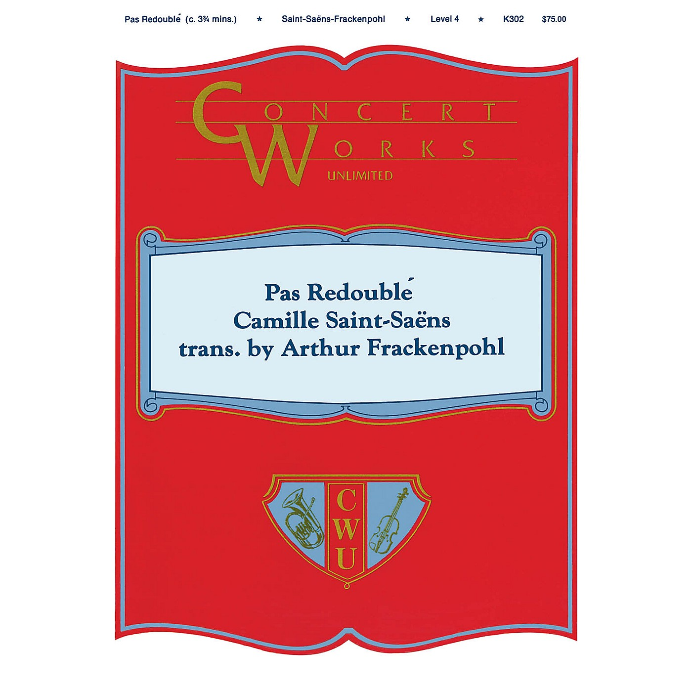 Hal Leonard Pas Redoublé Concert Band Level 4 Arranged by Arthur Frackenpohl thumbnail