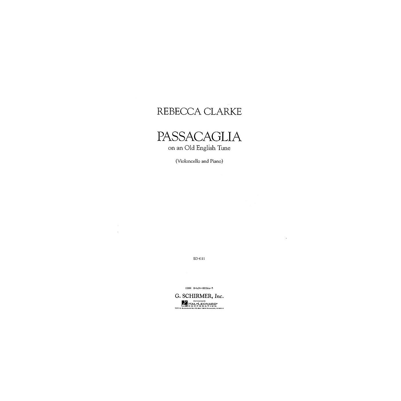 G. Schirmer Passacaglia (Cello and Piano) String Solo Series Composed by Rebecca Clarke thumbnail