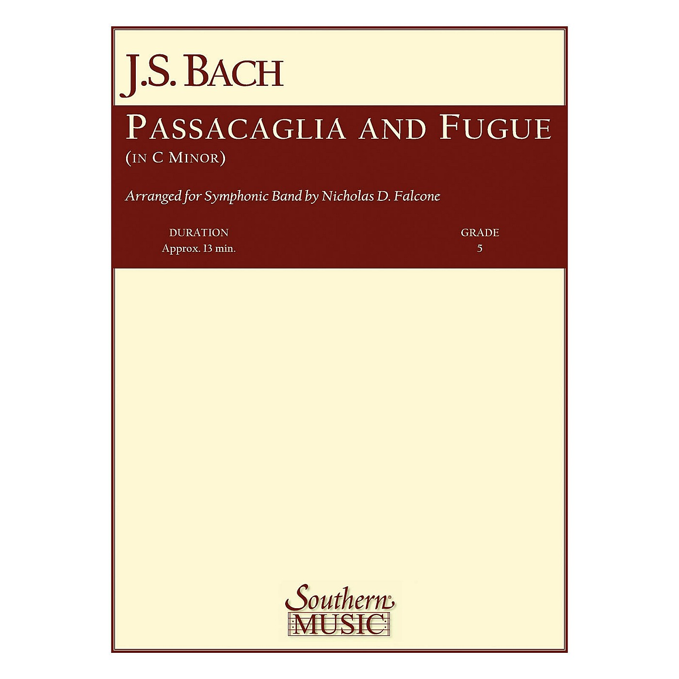 Southern Passacaglia and Fugue in C Minor Concert Band Level 5 Arranged by Nicholas Falcone thumbnail