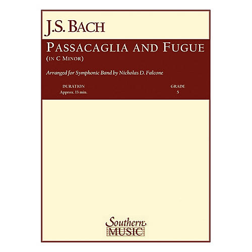 Southern Passacaglia and Fugue in C Minor (with Oversized Score) Concert Band Level 5 Arranged by Nicholas Falcone thumbnail