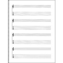 Music Sales Passantino Guitar Manuscript Paper Spiral pad #159 - 4 Staves, 64 Pgs, 9X12