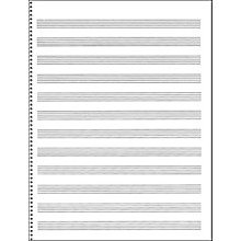 Music Sales Passantino Manuscript Paper #65 12 Stave, 32 Page, Spiral, 9X12