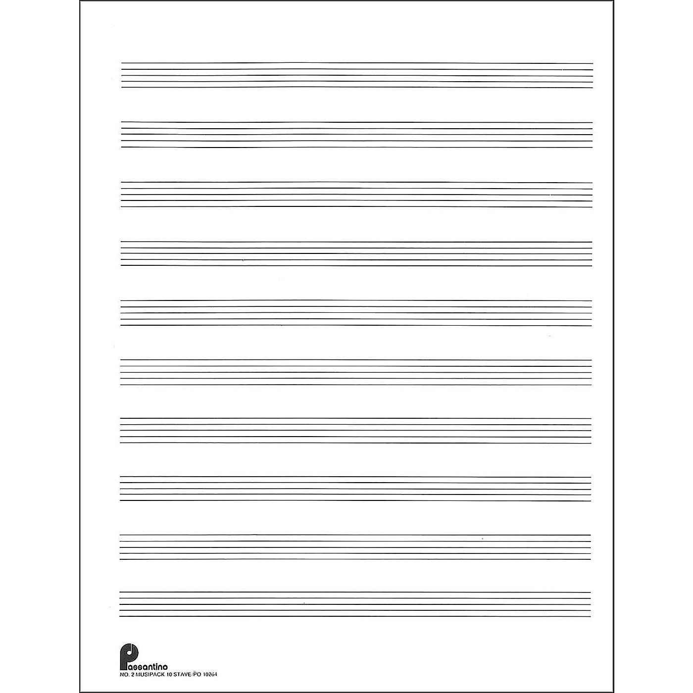 Music Sales Passantino Music Paper Filler No.2 96 Pages, 8.5X11, 3 Ring thumbnail