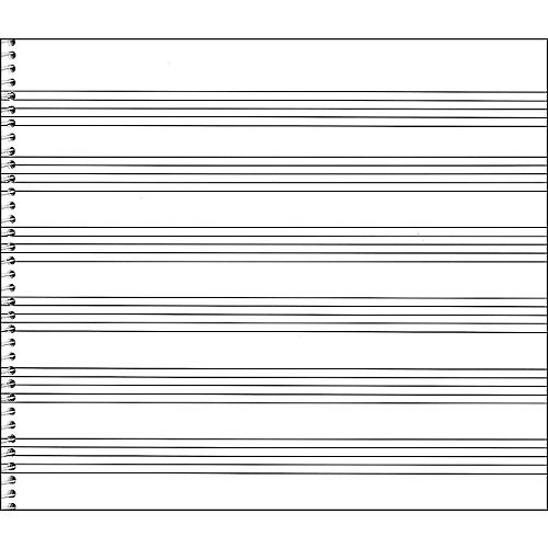 Music Sales Passantino Spiral Book #76 64 Pgs, 6 Stave Extra Wide, 8 X 7 thumbnail