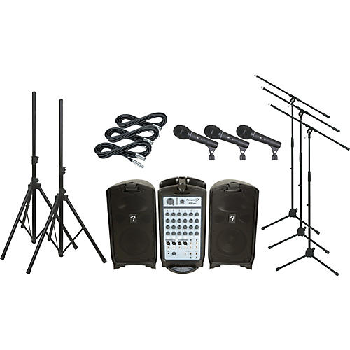 Fender Passport 300 PRO PA Package with 3 Mics-thumbnail