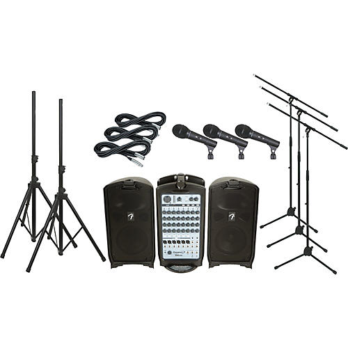 Fender Passport 500 Pro PA Package with 3 Mics thumbnail