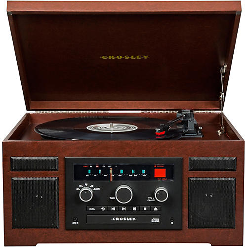 Crosley Patriarch Entertainment Center with Bluetooth and PVC veneer thumbnail