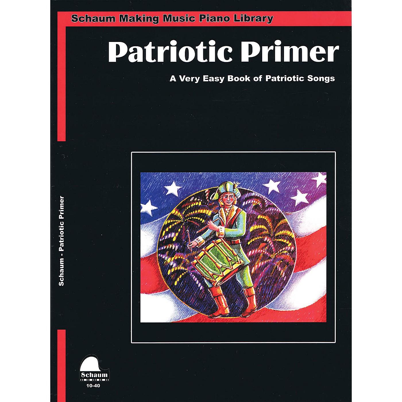 SCHAUM Patriotic Primer (Primer Level Early Elem Level) Educational Piano Book thumbnail