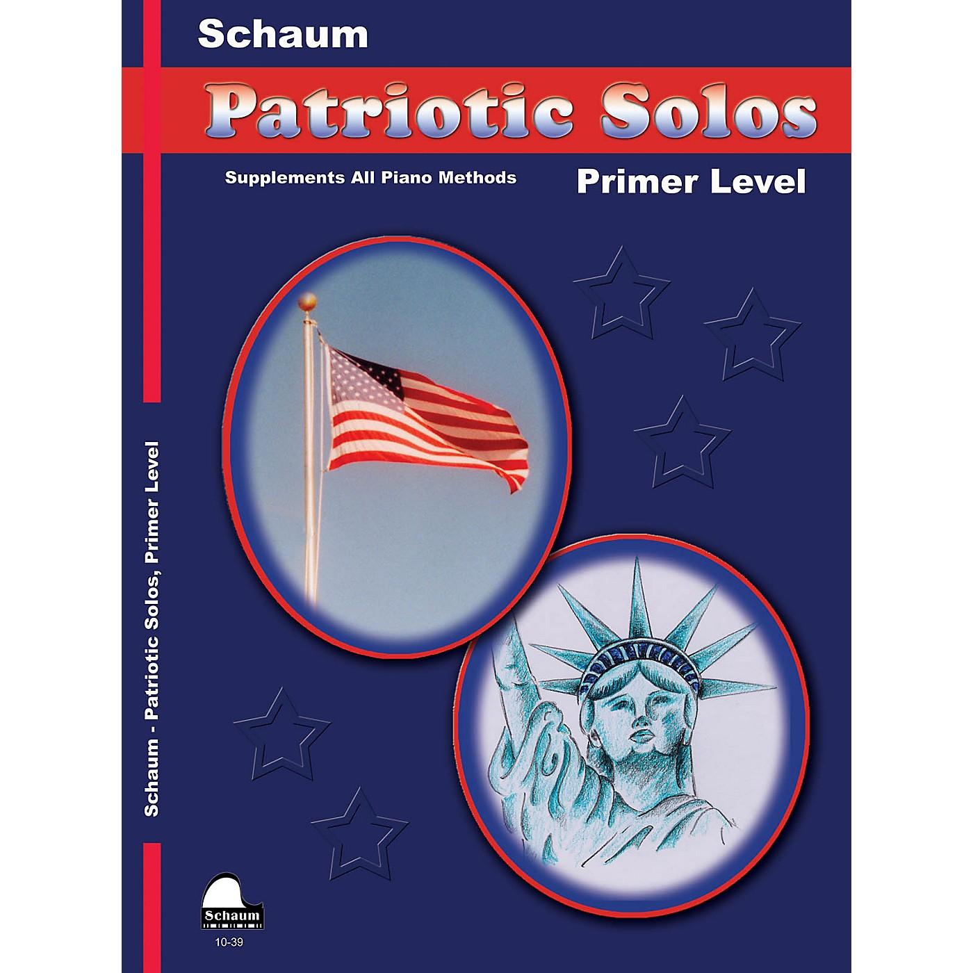 SCHAUM Patriotic Solos (Primer Level (Early Elem)) Educational Piano Book thumbnail