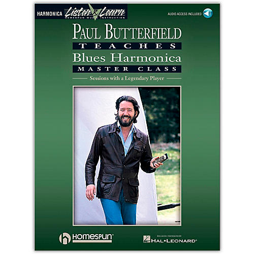 Hal Leonard Paul Butterfield Teaches Blues Harmonica Master Class (Book/Online Audio) thumbnail