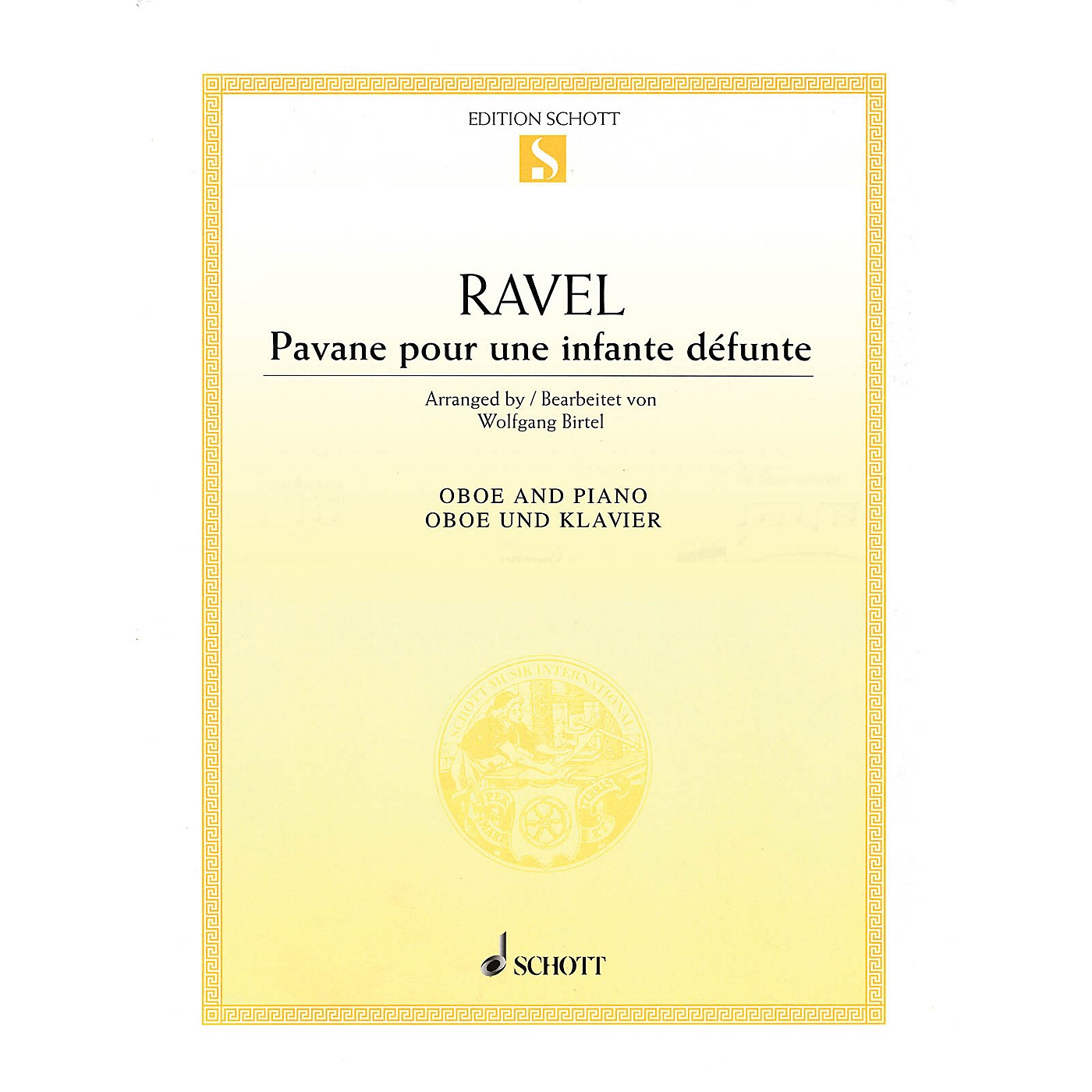 Schott Pavane pour une infante defunte (Pavane for a Dead Princess for Oboe and Piano) Woodwind Solo Series thumbnail