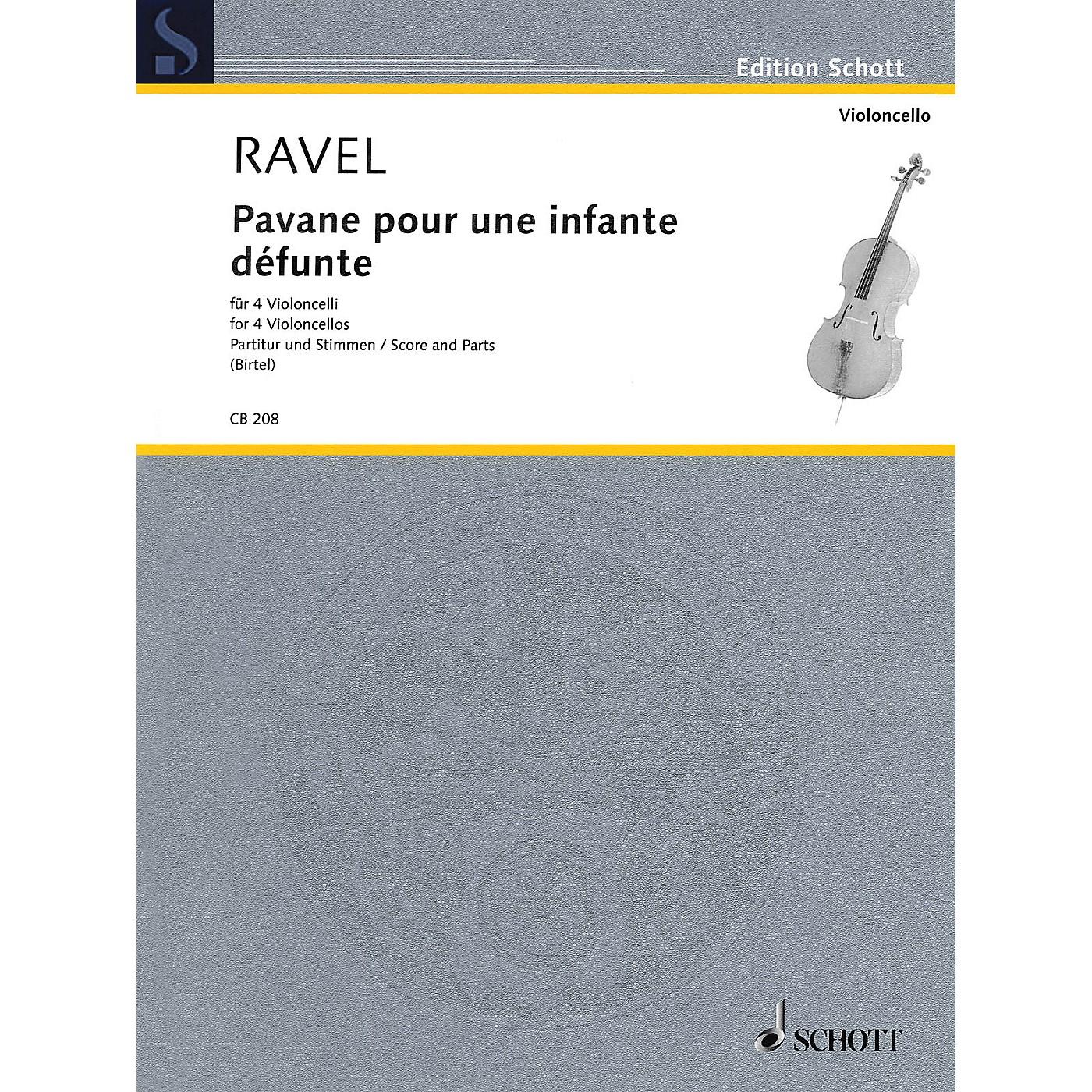 Schott Pavane pour une infante défunte (for 4 Cellos Score and Parts) String Series Softcover thumbnail