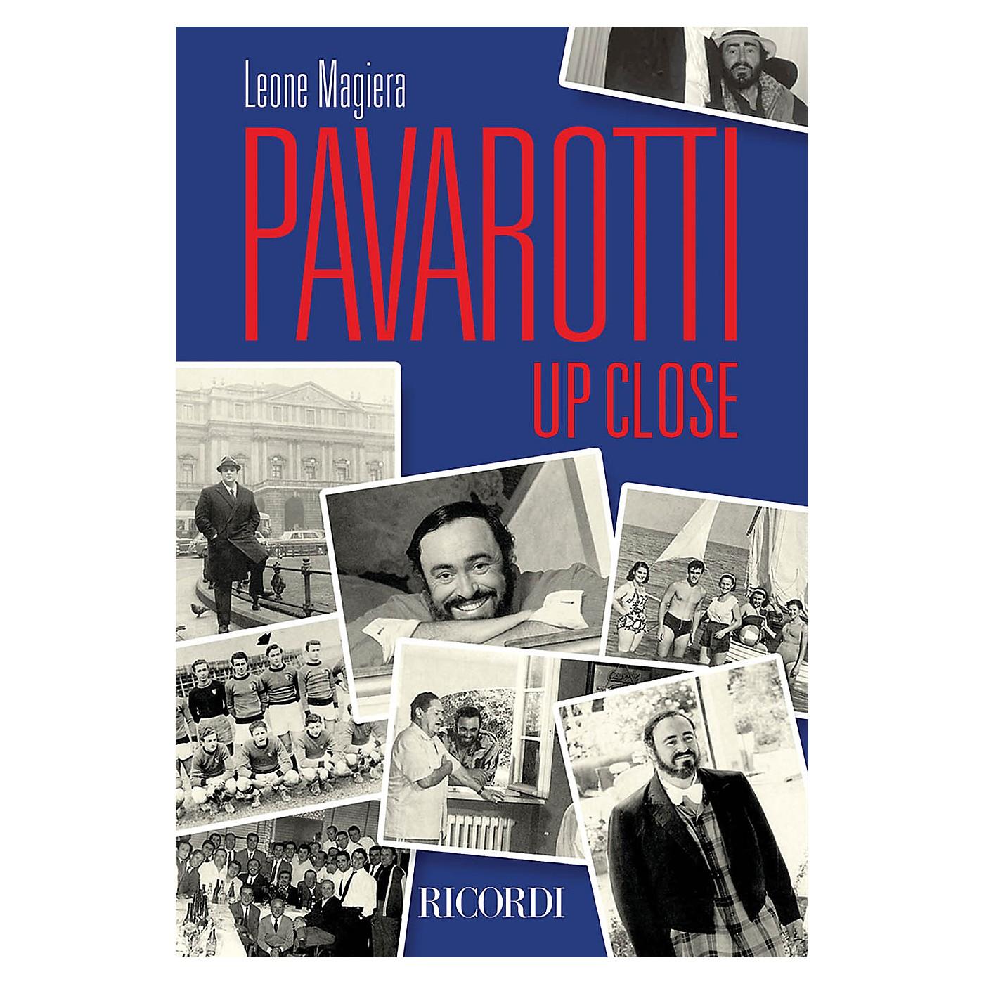 Ricordi Pavarotti Up Close Misc Series Softcover thumbnail