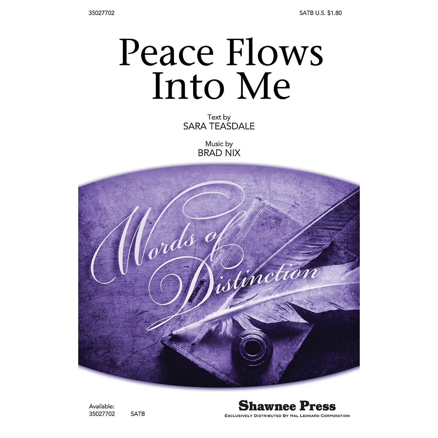 Shawnee Press Peace Flows Into Me SATB composed by Brad Nix thumbnail