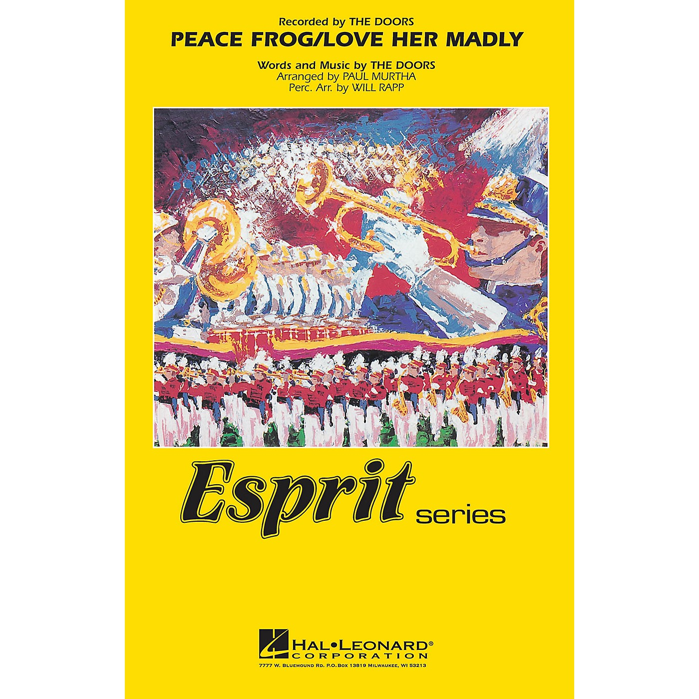Hal Leonard Peace Frog/Love Her Madly Marching Band Level 3 by The Doors Arranged by Paul Murtha thumbnail